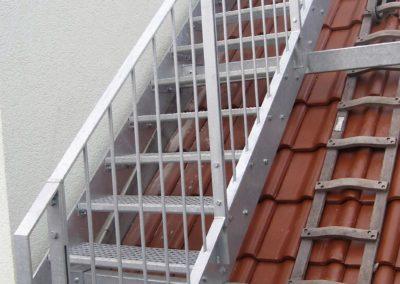 Treppenkonstruktion zur Dachterasse