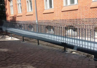Barrierefreie Rampe aus Stahl
