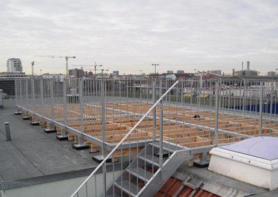 Dachterasse Stahl Holz Konstruktion