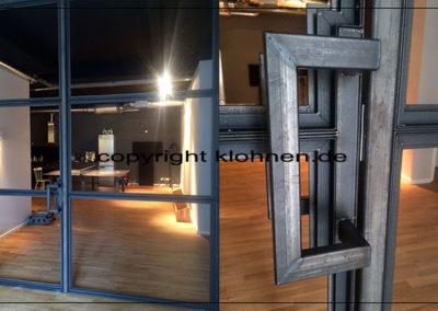 Stossgriff aus Stahl roh Industrie Look