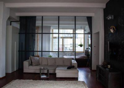 Stahl Glas Raumteiler Loft