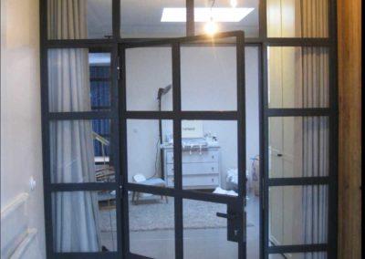 Stahl Glas Trennwand Tür